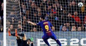 Suarez hits hat-trick against Giroma
