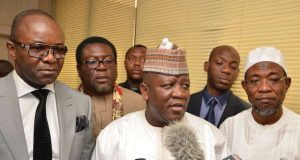 Zamfara-State-Governor-and-Chairman-of-NGF-Mallam-Abdulaziz-Yari-in-company-of-Kachikwu-and-some-members-of-the-Governors-Forum