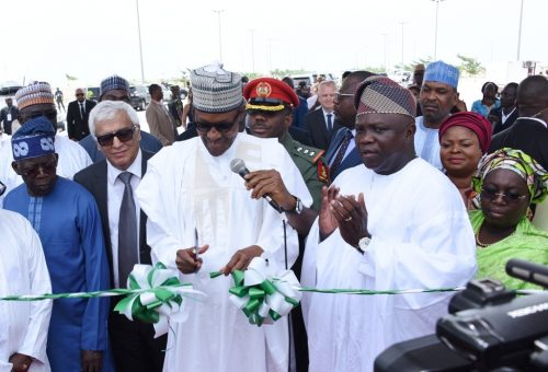 Buhari commissions a project in Lagos