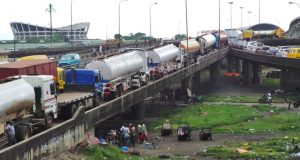 Heavy duty trucks on Lagos roads