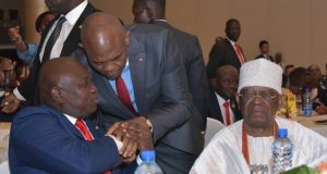 Gov. Ambode, Tony Elumelu and Otunba Subomi Balogun