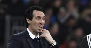 Paris Saint-Germain coach Unai Emery