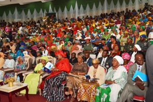 Guests at the 2018 World Women's Day celebration n Abuja