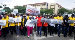 Ambode leads Lagos officials in symbolic walk against rape, violence