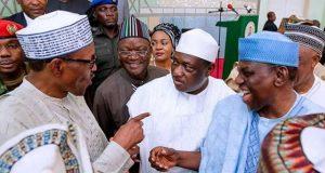President Muhammadu Buhari with Benue stakeholders