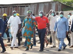 Ambode visits the Olusosun dump site