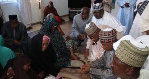 Saraki condoling members of Sen. Wakili in Abuja