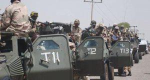 Dapchi girls accompanied by heavy military convoy