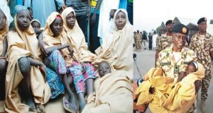 Some of the freed Dapchi Schoolgirls