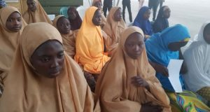 Some of the freed Dapchi girls