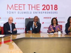Tony Elumelu with others at the selection process