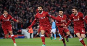 Salah and mates celebrate decimation of Man City at Anfield