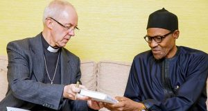 Archbishop of Canterbury, His Grace Justin Welby with President Buhari