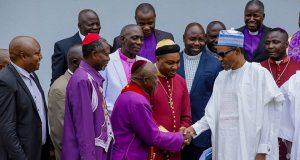 Members of Arewa Pastors Non-denominational Initiative for Peace in Nigeria with President Buhari