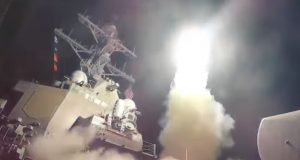U.S-led coalition air strike against Syria