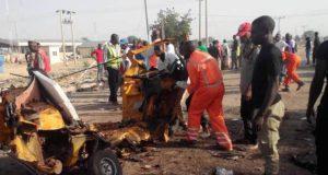 Boko Haram suicide bomb in Maidugurii
