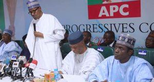 Buhari at APC NWC meeting