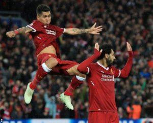 Roberto Filmino celebrates his goal