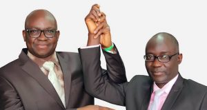 Gov. Ayodele Fayose and his deputy, Prof. Kolapo Olusola