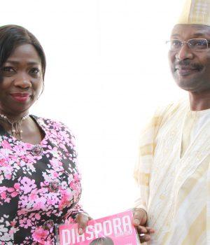 Abike Dabiri-Erewa with INEC boss Prof. Yakubu Mahmood