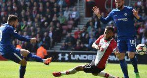 Eden Hazard drew Chelsea level at Southampton with his 16th goal of the season