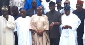Southwest APC leaders meet Ekiti guber aspirants