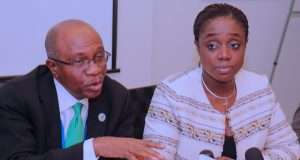 CBN Gov. Godwin Emefiele and Finance Minister, Kemi Adeosun