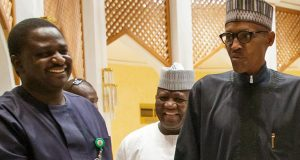 Femi Adesina and President Buhari
