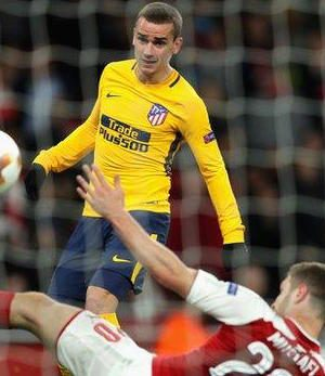 Antonio Griezmann punished arsenal