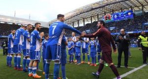 Deportivo gave Barcelona a guard of honour on Sunday for their Copa del Rey success - and they won La Liga about 90 minutes later
