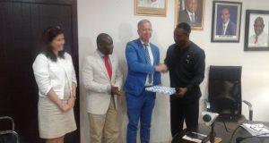 Ladi Lawanson receives German Consul-General in Nigeria, Ingo Herbert and his team