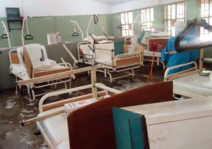 Empty hospitals caused by health workers' strike
