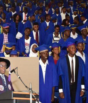 New FUTA Students, inset is VC Prof. Fuwape