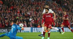 Mohammed Salah scores two against his former club, Roma