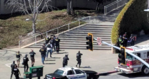 Scene of the possible shooting at YouTube HQ
