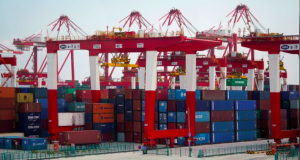 Containers are seen at the Yangshan Deep Water Port, part of the Shanghai Free Trade Zone, in Shanghai, China March 14, 2018