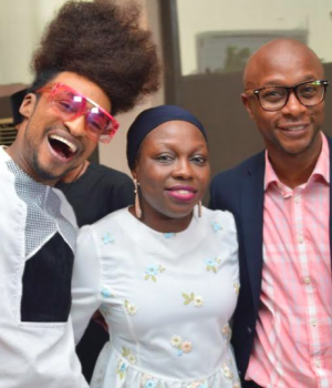 L-R: TV host, Denrele Edun; Change-A-Life Chief Operating Officer, Sekinah Ayeyemi, and Head, Digital Marketing, First Bank of Nigeria Limited, Yinka Ijabiyi