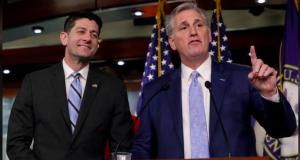 House Speaker Paul Ryan with House Majority Leader Kevin McCarthy