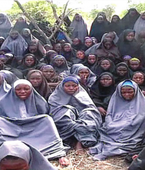 Some of the Chibok Girls kidnapped by Boko Haram in 2014