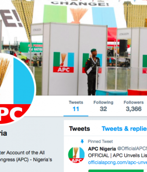New APC Twitter account