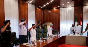 Service Chiefs meet Buhari