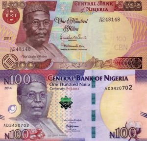 The Old and New N100 notes