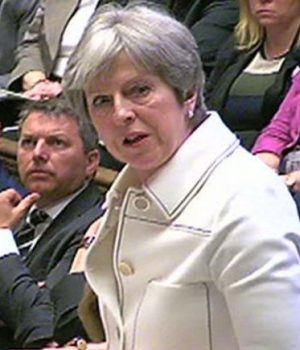 British PM Theresa May addressing the House of Commons