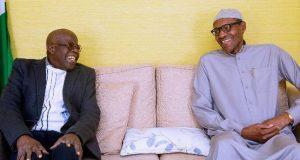 Tinubu and Buhari in London