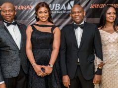 Uzoka and wife, Lotanna, Elumelu and wife, Awele,