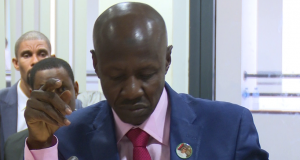 EFCC boss, Ibrahim Magu before House Committee on Public Accounts and Finance