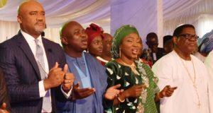 Pastor Adefarasin, Gov. Ambode and wife, Bolanle,