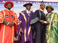 Gov. Ambode with best LASU graduating student