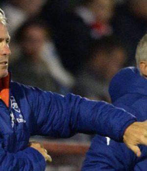 Arsenal U-23 coaches Steve Gatting and Carl Laraman