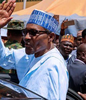 President Muhammadu Buhari in Daura, Katsina State